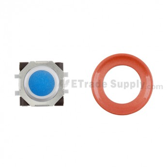 BlackBerry Pearl 8100,8300,8800,8220,9000 Blue Trackball and White Inner Ring Assembly with Outer Ring ,Neon Orange