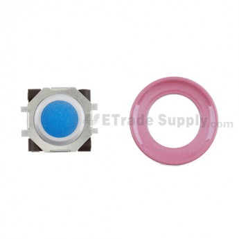BlackBerry Pearl 8100,8300,8800,8220,9000 Blue Trackball and White Inner Ring Assembly with Outer Ring ,Pink