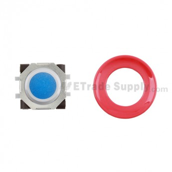 BlackBerry Pearl 8100,8300,8800,8220,9000 Blue Trackball and White Inner Ring Assembly with Outer Ring ,Red