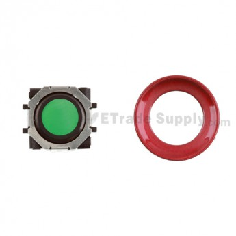 BlackBerry Pearl 8100,8300,8800,8220,9000 Green Trackball and Black Inner Ring Assembly with Outer Ring ,Dark Red