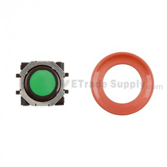 BlackBerry Pearl 8100,8300,8800,8220,9000 Green Trackball and Black Inner Ring Assembly with Outer Ring ,Neon Orange