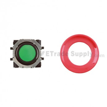 BlackBerry Pearl 8100,8300,8800,8220,9000 Green Trackball and Black Inner Ring Assembly with Outer Ring ,Red
