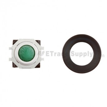 BlackBerry Pearl 8100,8300,8800,8220,9000 Green Trackball and White Inner Ring Assembly with Outer Ring ,Black