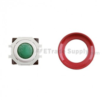 BlackBerry Pearl 8100,8300,8800,8220,9000 Green Trackball and White Inner Ring Assembly with Outer Ring ,Dark Red