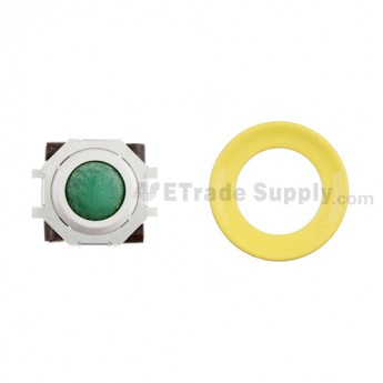 BlackBerry Pearl 8100,8300,8800,8220,9000 Green Trackball and White Inner Ring Assembly with Outer Ring , Neon yellow