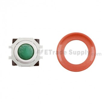 BlackBerry Pearl 8100,8300,8800,8220,9000 Green Trackball and White Inner Ring Assembly with Outer Ring ,Red
