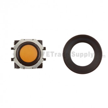 BlackBerry Pearl 8100,8300,8800,8220,9000 Orange Trackball and Black Inner Ring Assembly with Outer Ring ,Black