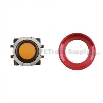 BlackBerry Pearl 8100,8300,8800,8220,9000 Orange Trackball and Black Inner Ring Assembly with Outer Ring ,Dark Red