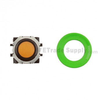 BlackBerry Pearl 8100,8300,8800,8220,9000 Orange Trackball and Black Inner Ring Assembly with Outer Ring ,Neon Green