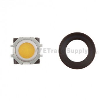 BlackBerry Pearl 8100,8300,8800,8220,9000 Orange Trackball and White Inner Ring Assembly with Outer Ring ,Black