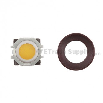 BlackBerry Pearl 8100,8300,8800,8220,9000 Orange Trackball and White Inner Ring Assembly with Outer Ring ,Dark Purple