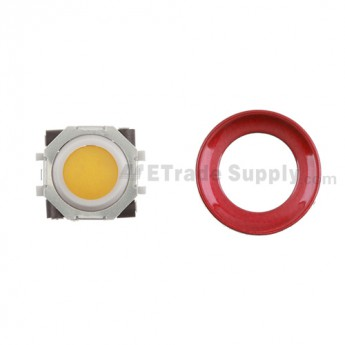 BlackBerry Pearl 8100,8300,8800,8220,9000 Orange Trackball and White Inner Ring Assembly with Outer Ring ,Dark Red