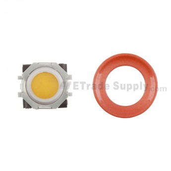 BlackBerry Pearl 8100,8300,8800,8220,9000 Orange Trackball and White Inner Ring Assembly with Outer Ring ,Neon Orange