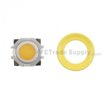 BlackBerry Pearl 8100,8300,8800,8220,9000 Orange Trackball and White Inner Ring Assembly with Outer Ring , Neon yellow