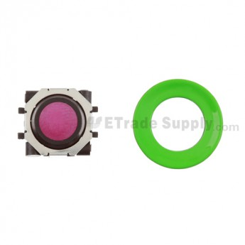 BlackBerry Pearl 8100,8300,8800,8220,9000 Pink Trackball and Black Inner Ring Assembly with Outer Ring ,Neon Green