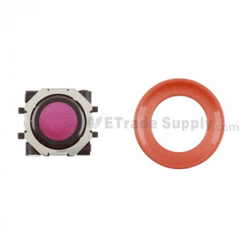 BlackBerry Pearl 8100,8300,8800,8220,9000 Pink Trackball and Black Inner Ring Assembly with Outer Ring ,Neon Orange