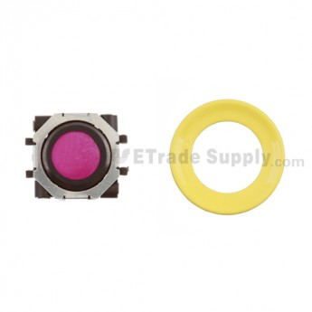 BlackBerry Pearl 8100,8300,8800,8220,9000 Pink Trackball and Black Inner Ring Assembly with Outer Ring , Neon yellow