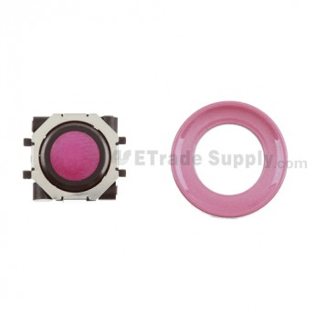 BlackBerry Pearl 8100,8300,8800,8220,9000 Pink Trackball and Black Inner Ring Assembly with Outer Ring ,Pink