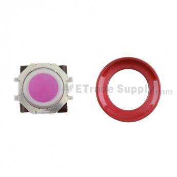 BlackBerry Pearl 8100,8300,8800,8220,9000 Pink Trackball and White Inner Ring Assembly with Outer Ring ,Dark Red