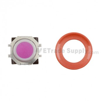 BlackBerry Pearl 8100,8300,8800,8220,9000 Pink Trackball and White Inner Ring Assembly with Outer Ring ,Neon Orange