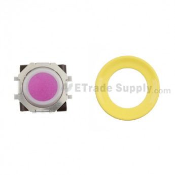 BlackBerry Pearl 8100,8300,8800,8220,9000 Pink Trackball and White Inner Ring Assembly with Outer Ring , Neon yellow