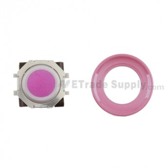 BlackBerry Pearl 8100,8300,8800,8220,9000 Pink Trackball and White Inner Ring Assembly with Outer Ring ,Pink