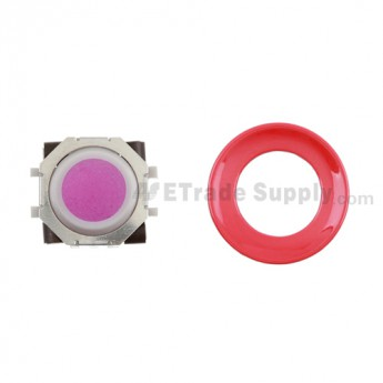 BlackBerry Pearl 8100,8300,8800,8220,9000 Pink Trackball and White Inner Ring Assembly with Outer Ring ,Red