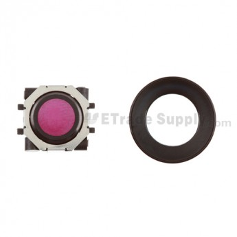 BlackBerry Pearl 8100,8300,8800,8220,9000 Purple Trackball and Black Inner Ring Assembly with Outer Ring ,Black