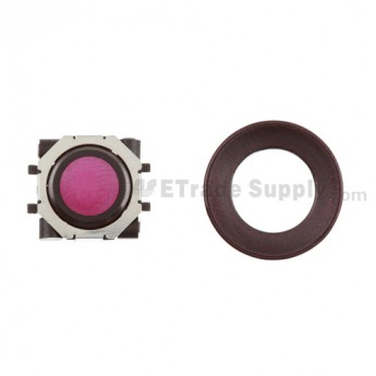BlackBerry Pearl 8100,8300,8800,8220,9000 Purple Trackball and Black Inner Ring Assembly with Outer Ring ,Dark Purple