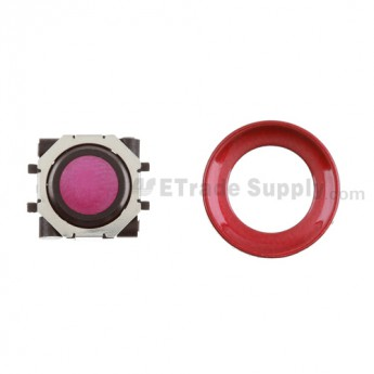 BlackBerry Pearl 8100,8300,8800,8220,9000 Purple Trackball and Black Inner Ring Assembly with Outer Ring ,Dark Red