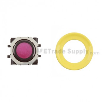 BlackBerry Pearl 8100,8300,8800,8220,9000 Purple Trackball and Black Inner Ring Assembly with Outer Ring , Neon yellow
