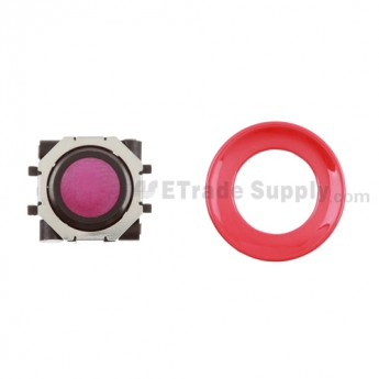 BlackBerry Pearl 8100,8300,8800,8220,9000 Purple Trackball and Black Inner Ring Assembly with Outer Ring ,Red