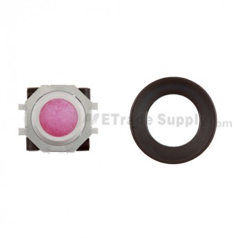 BlackBerry Pearl 8100,8300,8800,8220,9000 Purple Trackball and White Inner Ring Assembly with Outer Ring ,Black