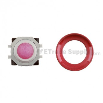 BlackBerry Pearl 8100,8300,8800,8220,9000 Purple Trackball and White Inner Ring Assembly with Outer Ring ,Dark Red