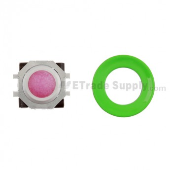 BlackBerry Pearl 8100,8300,8800,8220,9000 Purple Trackball and White Inner Ring Assembly with Outer Ring ,Neon Green