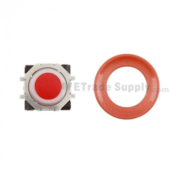 BlackBerry Pearl 8100,8300,8800,8220,9000 Red Trackball and Black Inner Ring Assembly with Outer Ring ,Neon Orange