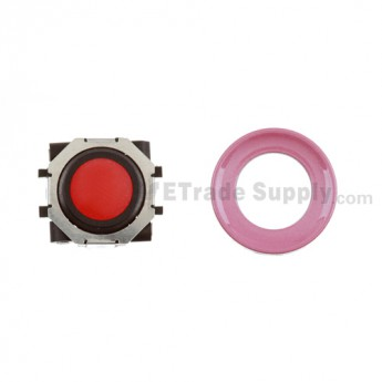 BlackBerry Pearl 8100,8300,8800,8220,9000 Red Trackball and Black Inner Ring Assembly with Outer Ring ,Pink