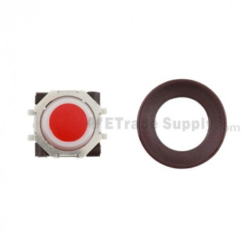 BlackBerry Pearl 8100,8300,8800,8220,9000 Red Trackball and White Inner Ring Assembly with Outer Ring ,Dark Purple