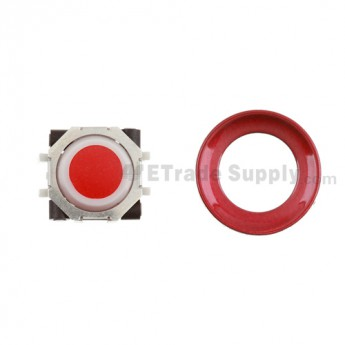 BlackBerry Pearl 8100,8300,8800,8220,9000 Red Trackball and White Inner Ring Assembly with Outer Ring ,Dark Red