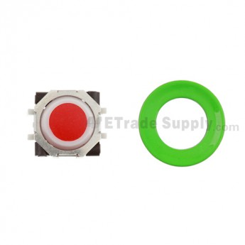 BlackBerry Pearl 8100,8300,8800,8220,9000 Red Trackball and White Inner Ring Assembly with Outer Ring ,Neon Green