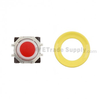 BlackBerry Pearl 8100,8300,8800,8220,9000 Red Trackball and White Inner Ring Assembly with Outer Ring ,Neon Yellow