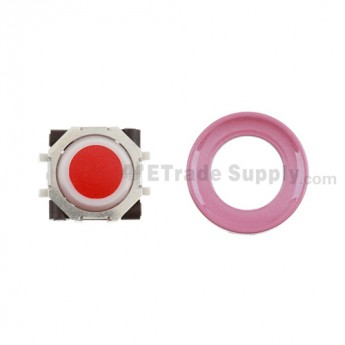 BlackBerry Pearl 8100,8300,8800,8220,9000 Red Trackball and White Inner Ring Assembly with Outer Ring ,Pink