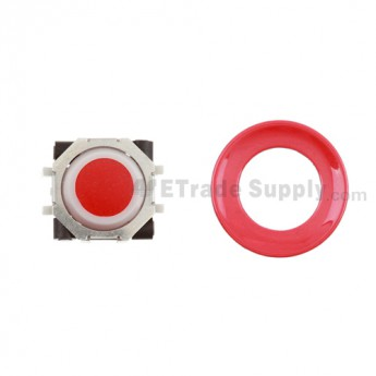 BlackBerry Pearl 8100,8300,8800,8220,9000 Red Trackball and White Inner Ring Assembly with Outer Ring ,Red