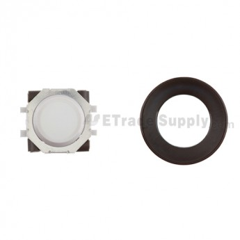 BlackBerry Pearl 8100,8300,8800,8220,9000 White Trackball and White Inner Ring Assembly with Outer Ring ,Black
