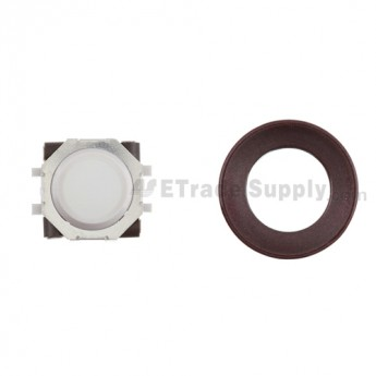 BlackBerry Pearl 8100,8300,8800,8220,9000 White Trackball and White Inner Ring Assembly with Outer Ring ,Dark Purple
