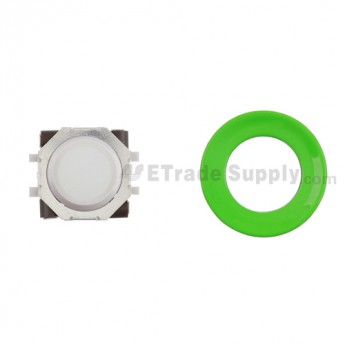BlackBerry Pearl 8100,8300,8800,8220,9000 White Trackball and White Inner Ring Assembly with Outer Ring ,Neon Green