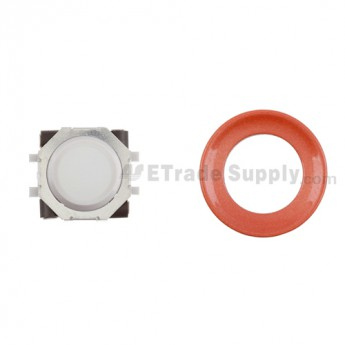 BlackBerry Pearl 8100,8300,8800,8220,9000 White Trackball and White Inner Ring Assembly with Outer Ring ,Neon Orange
