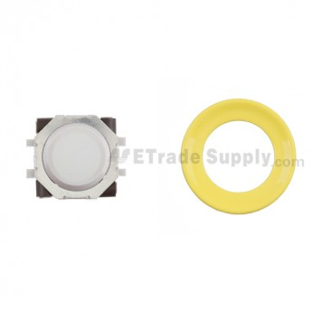 BlackBerry Pearl 8100,8300,8800,8220,9000 White Trackball and White Inner Ring Assembly with Outer Ring , Neon yellow