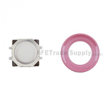 BlackBerry Pearl 8100,8300,8800,8220,9000 White Trackball and White Inner Ring Assembly with Outer Ring ,Pink
