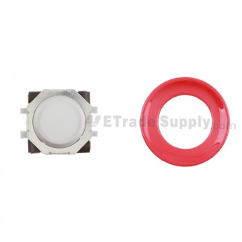 BlackBerry Pearl 8100,8300,8800,8220,9000 White Trackball and White Inner Ring Assembly with Outer Ring ,Red